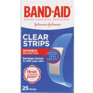 Band-Aid Clear Sterile Strips