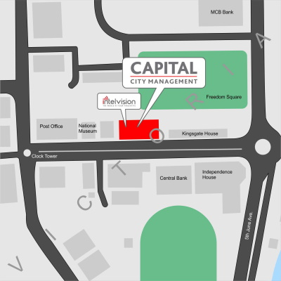 Map to Capital Trading Depot in Victoria