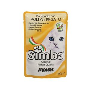 Simba Monge Cat Food Pouch with Chicken Liver